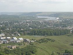 View of Mamadysh and the Vyatka River