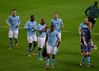 Yaya Touré - Touré playing for Manchester City in 2012