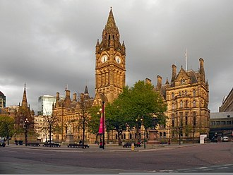 History of Manchester - Manchester Town Hall
