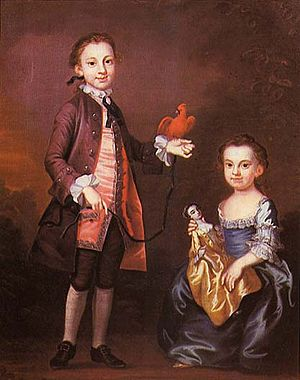 John Wollaston (painter) - ''Mann Page and His Sister Elizabeth'', John Wollaston, circa 1757. Virginia Historical Society