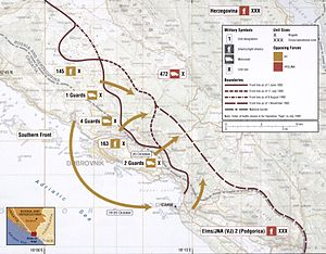 Operation Tiger (1992) - Map of Operation Tiger and follow-up operations