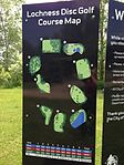 Map and sign at Lochness Park disc golf course.JPG