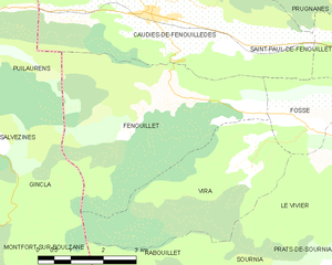 Fenouillet, Pyrénées-Orientales - Map of Fenouillet and its surrounding communes