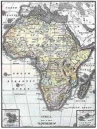 Carte de l Afrique en 1890