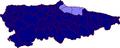 Map of Asturias highlighting Gijon (comarca).png