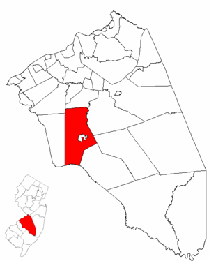 Medford, New Jersey - Image: Map of Burlington County highlighting Medford Township