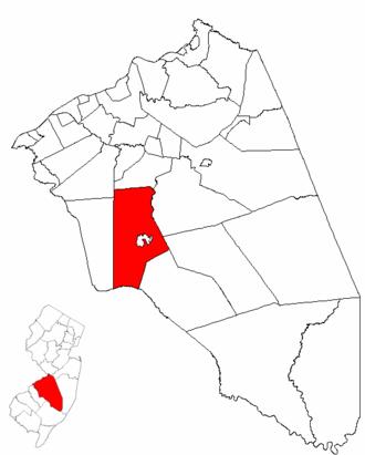 Medford, New Jersey - Image: Map of Burlington County highlighting Medford Township