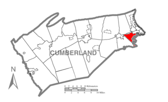 Lower Allen Township, Cumberland County, Pennsylvania - Image: Map of Cumberland County Pennsylvania Highlighting Lower Allen Township