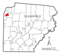 Map of Dubois, Clearfield County, Pennsylvania Highlighted.png