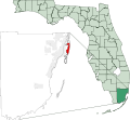 Map of Florida highlighting Miami Beach.svg