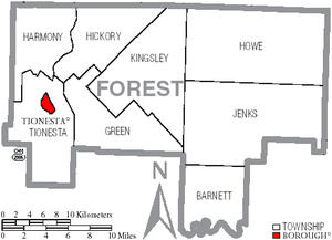 Map of Forest County Pennsylvania With Municipal and Township Labels.png