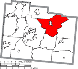 Location of Cedarville Township in Greene County