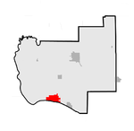 Map of Jersey County highlighting Grafton, Illinois.png