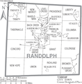 Map of Randolph County North Carolina With Municipal and Township Labels.PNG
