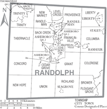 Randolph County, North Carolina - Wikipedia on caswell county nc road map, mecklenburg county nc road map, gates county nc road map, randolph co nc map, avery county road map, randolph county north carolina, randolph county highway map, rutherford county nc road map, northampton county nc road map, harnett county nc road map, iredell county nc road map, pasquotank county nc road map, pitt county nc road map, brunswick county nc road map, lee county nc road map, high point nc road map, bladen county nc road map, transylvania county nc road map, polk county nc road map, buncombe county nc road map,