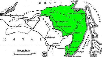 Green Ukraine - Image: Map of the Green Ukraine