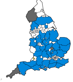 United Kingdom local elections, 2009 - Mapped results