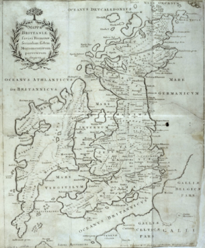 Charles Bertram - Stukeley's 1757 map, based on a drawing sent by Bertram by early 1750, cleaned up and reoriented to face north.