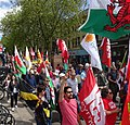 March for Welsh Independence arranged by AUOB Cymru First national march; Wales, Europe 38.jpg
