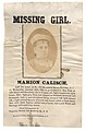 Marion Calisch, left her home, at No. 213 Bloomfield Street, Hoboken, NJ, on Wednesday, January 19th, 1881, to go to school in New York, at 45th Street and Broadway; she is 17 years old, light (7976720709).jpg