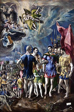 Exuperius (Theban Legion) - El Greco, The Martyrdom of St Maurice.