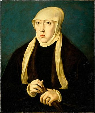Mary of Hungary (governor of the Netherlands) - Portrait by Jan Cornelisz Vermeyen at The Linsky Collection