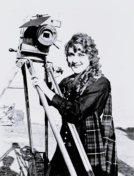 File:Mary Pickford on Beach with Camera, ca. 1916 (LOC).jpg