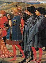 Arrivée des mages  , détail d une prédelle du polyptyque de Pise  (1426) démembré et dispersé