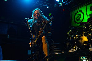 Matt DeVries - DeVries performing with Fear Factory in 2013