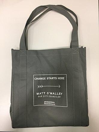 Matt O'Malley - A reusable bag designed by Councilor O'Malley.