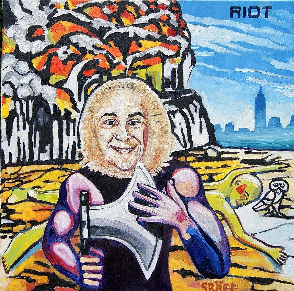 """Matthias Laurenz Gräff"""" - Riot, Rock City (Allegorie auf H. C. Strache und das gleichnamige Musikalbum"""").jpg"""