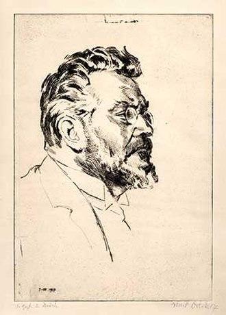 Max Slevogt - Slevogt portrayed in a 1917 etching by Emil Orlik