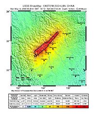 May12 2008 Sichuan, China earthquake shake map.jpg