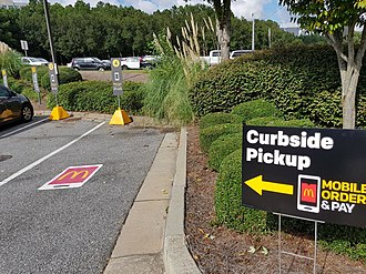 Drive-in - McDonald's Curbside Pickup - Mobile - order and pay