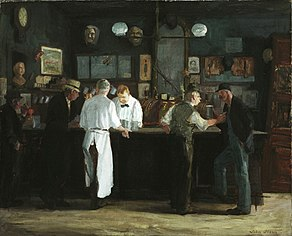 John French Sloan, McSorley's Bar, 1912, Detroit Institute of Arts
