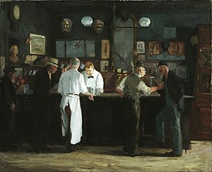 John French Sloan - John French Sloan, McSorley's Bar, 1912, Detroit Institute of Arts