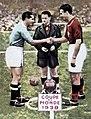 Meazza-Sarosi - Finale de la Coupe du monde de football 1938 à Paris.jpg