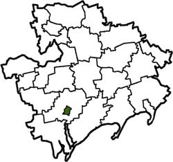 Vị trí của huyện Melitopol trong tỉnh Zaporizhia