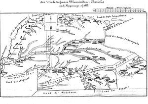 Molotschna - 1852 Molotschna Colony map