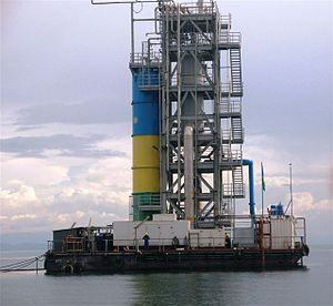 Lake Kivu - A methane extraction platform