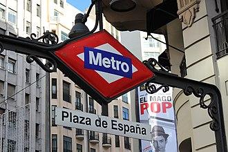 Plaza de España-Noviciado (Madrid Metro) - Line 3 platforms, Plaza de España