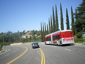 Sepulveda Boulevard - Image: Metro Red Line, Sepulveda Pass, San Fernando Valley