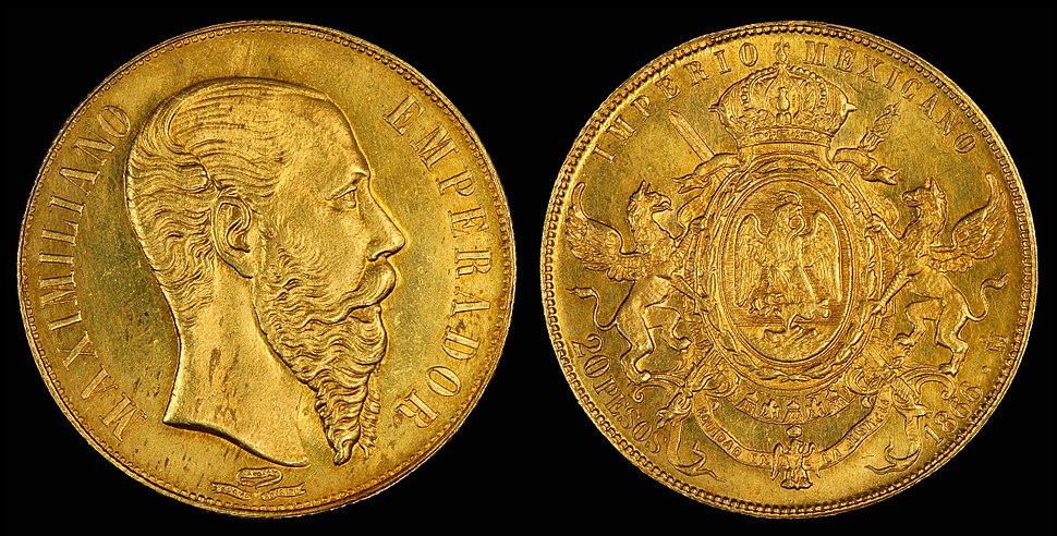 Mexico 1866 20 Pesos