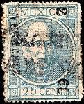 Mexico 1868 25c Sc54 used.jpg