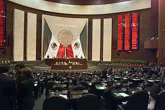 Chamber of Deputies (Mexico) - Image: Mexico Chamber of Deputies backdrop