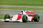 Michael Andretti - Mclaren MP4-8 during practice for the 1993 British Grand Prix (33645892346).jpg