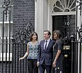 Michelle Obama and the Camerons at Downing Street.jpg