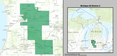 Michigan's 3rd congressional district - since January 3, 2013.