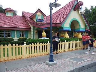 Mickeys House and Meet Mickey walk through attraction and meet-and-greet at Disney theme parks
