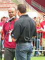 Mike Singletary & Gary Plummer at 49ers Family Day 2009 1.JPG